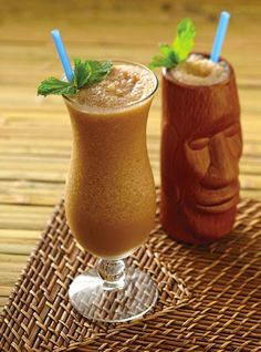 #Tiki #Mocktail, from  from Bitters and Shrub Syrup Cocktails by Warren Bobrow, the Cocktail Whisperer.