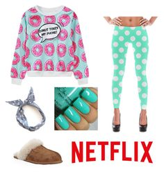 """Netflix & chill"" by mary-mara on Polyvore featuring WithChic, UGG Australia, women's clothing, women's fashion, women, female, woman, misses and juniors"