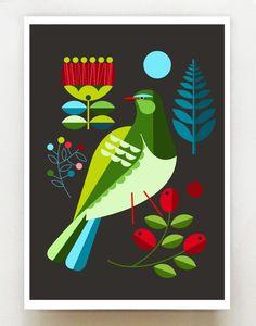 New Zealand, Folk, Kereru, X 23, African Art Paintings, New Zealand Art, Nz Art, Art Folder, Bird Illustration, Pencil Art Drawings, Native Art, Graphic Design Art