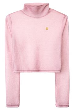 VFILES SPORT PLUS LUREX MOCK NECK TOP Glittery pink cropped top featuring mock neck and gold VFILES SPORT PLUS+ logo on front. SIZE & FIT Fits true to size. Chynna is 5'10'' (178 cm) tall, and is wearing a size S. VFILES SPORT PLUS The in-house, cut-and-sew line of fashion-forward sportswear from VFILES, borne out of demand for a brand that embodies our reach across music, art, fashion, design and pop culture. FREE STANDARD GLOBAL SHIPPING