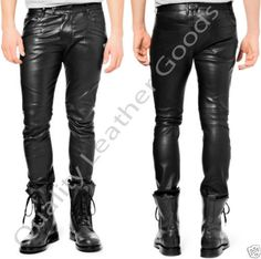 MENS-PREMIUM-SHEEP-LEATHER-JEANS-THIGH-FIT-LUXURY-PANTS-TROUSERS-IN-RED