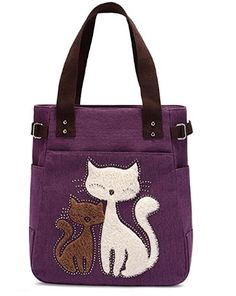 b6814d22a200 Buy Women Canvas Handbag Kaukko Shoulder Bag Cat Big Tote Bag - - and More  Fashion Bags at Affordable Prices.