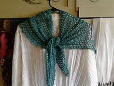 """Ravelry: free pattern """"it's a triangle"""" scarf, made with Aunt Lydia's crochet thread size 3"""