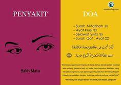 Doa untuk Sakit Mata Pray Quotes, Hadith Quotes, Muslim Quotes, Qoutes, Doa Islam, Allah Islam, Islam Quran, Islam Muslim, Reminder Quotes