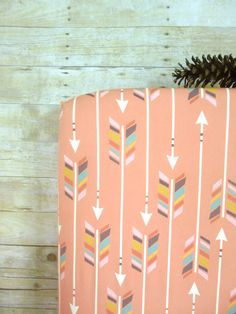 Coral Crib Sheet Arrow Baby or Toddler Fitted Crib by NeonEarth, $60.00