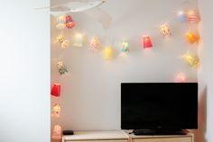 a red apple -DIY Fairylight, Lichterkette selber machen, selbstgemachte Lichterkette, DIY, Crafts für kids