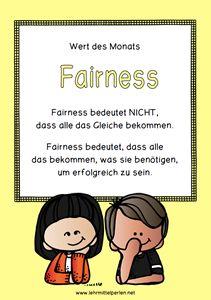 Wert des Monats: Unterrichtseinheit mit Lernrad - Fainess