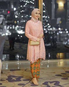 Elegant Kabaya Style by Model Baju Hijab, Kebaya Modern Hijab, Kebaya Hijab, Model Kebaya Brokat Modern, Kebaya Lace, Kebaya Dress, Dress Pesta, Dress Brukat, Hijab Dress Party