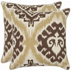 These damask brown decorative pillows add personality to your bedroom or living room, and are as soft as they are striking. The warm brown tones fit in with almost any decor, and the rustic damask print adds a splash of style to your room.