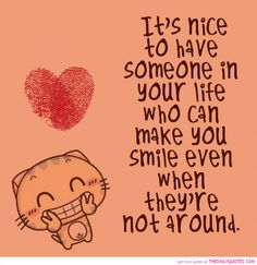 Funny And Sweet Pictures With Quotes: It Is Nice To Have Somenone In Your Life Love Your Smile Sweet Pictures With Quotes  ~ Mactoons Funny Inspiration