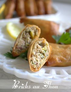 Tuna bricks quick and easy recipe Amour de cuisine Quick Recipes, Quick Easy Meals, Tapas, Cooking Time, Cooking Recipes, Cooking Pork, Tofu Recipes, Cooking Classes, Seafood Recipes