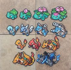 gen_i_starters___pokemon_perler_bead_sprites_by_maddogscreations-d9p34rp.jpg 900×890ピクセル