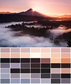 landscape orange pink colors brown palette Peach transparent color palette