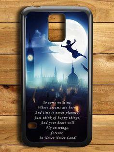 Disney Peterpan Quote Samsung Galaxy S5 Case