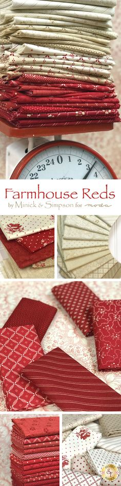 Farmhouse Reds by Minick and Simpson is a beautiful collection from Moda Fabrics available at Shabby Fabrics