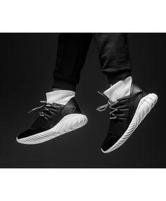 65f702efbe82 Adidas Tubular Doom Black Black White Shoes