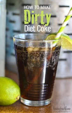 Dirty Diet Coke - make it yourself at home. It's soooo simple you'll never believe it!