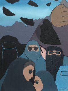 "Saatchi Online Artist Jillian Davis; Painting, ""He Who Has Not Sinned"" #art"
