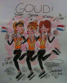 Gold!!! Teampursuit! Olympics 2014