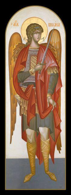 Greece -by George Kordis ~~~. Byzantine Art, Byzantine Icons, Religious Icons, Religious Art, Gabriel, Archangel Michael, Angel Art, Modern Art, Princess Zelda