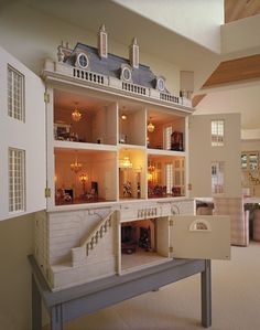 Dollhouse Miniatures : Château Margaux - open at angle Share, Repin, Comment - Thanks!