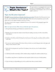 66 Best Topic sentences images | Topic sentences, School, Expository ...