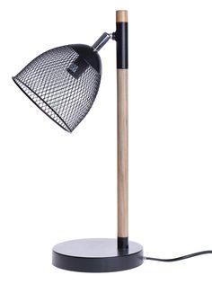 lamps-Lampa stołowa ażurowa czarna
