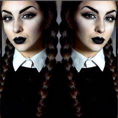 Instagram media by ellie35x - Wednesday Addams Makeup✖️