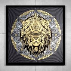 Lion Mandala Lion Images, Alphabet Symbols, Mexico Art, Mandala Print, Lion Tattoo, Sign Printing, Art Google, Art Forms, Art Drawings