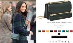 Prince Harry's fiancé, 36, opted for a bottle green Strathberry East/ West Mini for her first official visit to Scotland today, and within minutes it was listed as out of stock on the retailer's website.