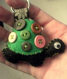 Felt Turtle keychains Handmade Custom colors $4.00