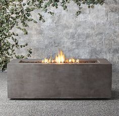 For the rooftop patio: Mendocino Propane Rectangle Fire Table - Restoration Hardware