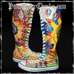 I WANT. possibly might make...  grateful dead  chuck taylor