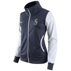 Women's Seattle Mariners Nike Navy Track Jacket
