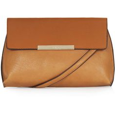 TOPSHOP Fold-Over Clutch ($48) ❤ liked on Polyvore featuring bags, handbags, clutches, tan, topshop purse, beige purse, foldover purse, beige handbags e tan purse