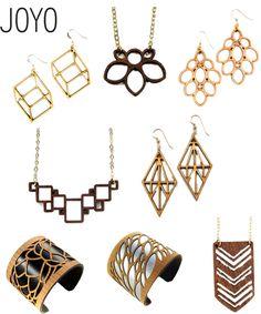 Giveaway: Joyo Lasercut Birch Earrings   StyleCarrot Laser Cut Wood, Laser Cutting, Laser Cut Jewelry, Laser Cut Acrylic, Viera, Leather Jewelry, Giveaway, Fashion Jewelry, Jewels