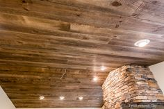 Using Vintage Shiplap Paneling on ceilings creates a dramatic space like no other.