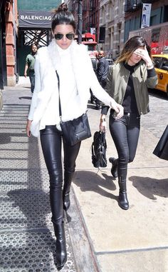 May 5, 2014 - Kendall and Kylie Jenner out in NYC