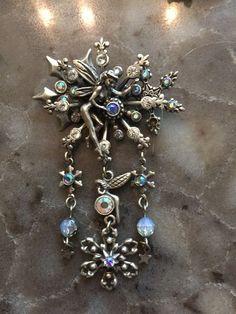 kirks folly jewelry.FAIRY SNOWFLAKE brooch #KirksFolly