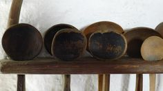 C19 Welsh cawl spoons in our Ty Unnos cottage - http://www.underthethatch.co.uk/tyunnos