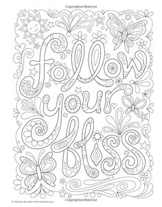 Follow Your Bliss Coloring Book Thaneeya McArdle 0499994340788 Books