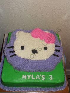 Buttercream Hello Kitty Themed Cake
