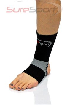 The SureSport® Theraputic Infrared Ankle Sleeve is designed to soothe your painful, aching ankle with FAR infrared technology. The FAR infrared support helps relieve pain by retaining body heat and emitting safe FAR infrared rays that penetrate deep into the joint and surrounding tissues of the ankle to help increase bloodflow which will in turn, reduce inflammation, decrease pain and speed the healing process.