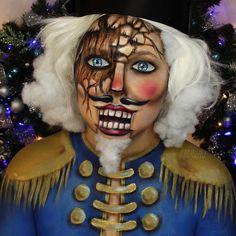 Get Free Cosmetic Samples! Amazing Halloween Makeup, Halloween Fashion, Halloween Make Up, Halloween Face Makeup, Halloween Costumes, Doll Makeup, Sfx Makeup, Makeup Art, Makeup Ideas