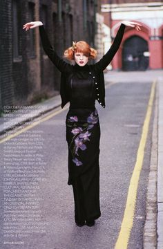 1997-98 - Karen Elson in Galliano for Dior by Arthur Elgort 4 Vogue