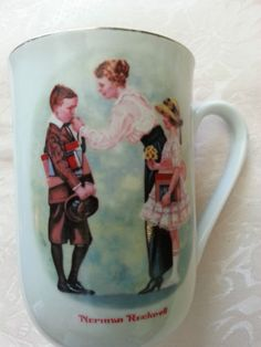 VINTAGE-NORMAN-ROCKWELL-1986-THE-FIRST-DAY-OF-SCHOOL-COFFEE-TEA-MUG-CUP