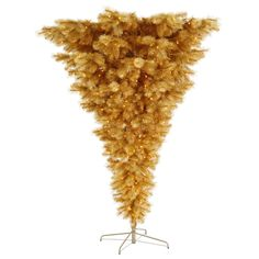 Vickerman 7Ft. Gold 1672 Tips Christmas Tree 600 Clear Mini Lights