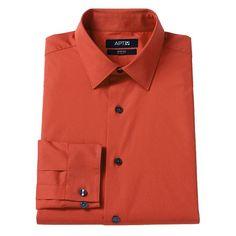 Men's Apt. 9® Slim-Fit Stretch Spread-Collar Dress Shirt, Size: 1