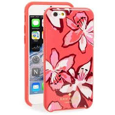 Women's Kate Spade New York 'Tiger Lily' Iphone 6 & 6S Case ($40) ❤ liked on Polyvore featuring accessories, tech accessories, surprise coral and kate spade