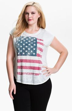 Signorelli 'American Flag' Cap Sleeve Tee (Plus) available at #Nordstrom  American King